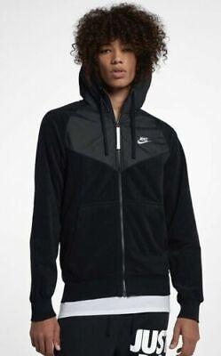 Mens Nike NSW Full Zip Polar Fleece Hoodie Black Medium 929114 010