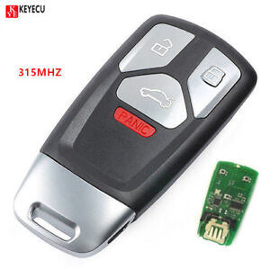Keyless Entry Smart Remote Key Fob 315mhz For 2017 Up Audi A4 A5 Q7