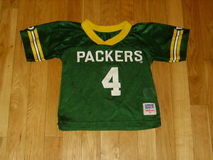 online store 32308 04ae6 Details about Vintage Wilson BRETT FAVRE GREEN BAY PACKERS Toddler NFL Team  Replica JERSEY 4T