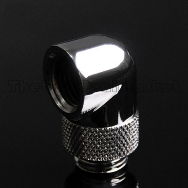1 Pc Water Cooling 90 Degree Angle G1/4 Thread Nozzle Rotary Fitting Adapter USA