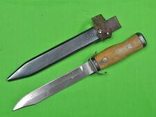 Vintage 1955 Polish Poland Fighting Knife & Scabbard Matching #