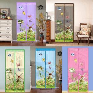 Set rideau mesh porte moustiquaire papillon anti moustique magnetique fermeture ebay - Fermeture magnetique porte ...