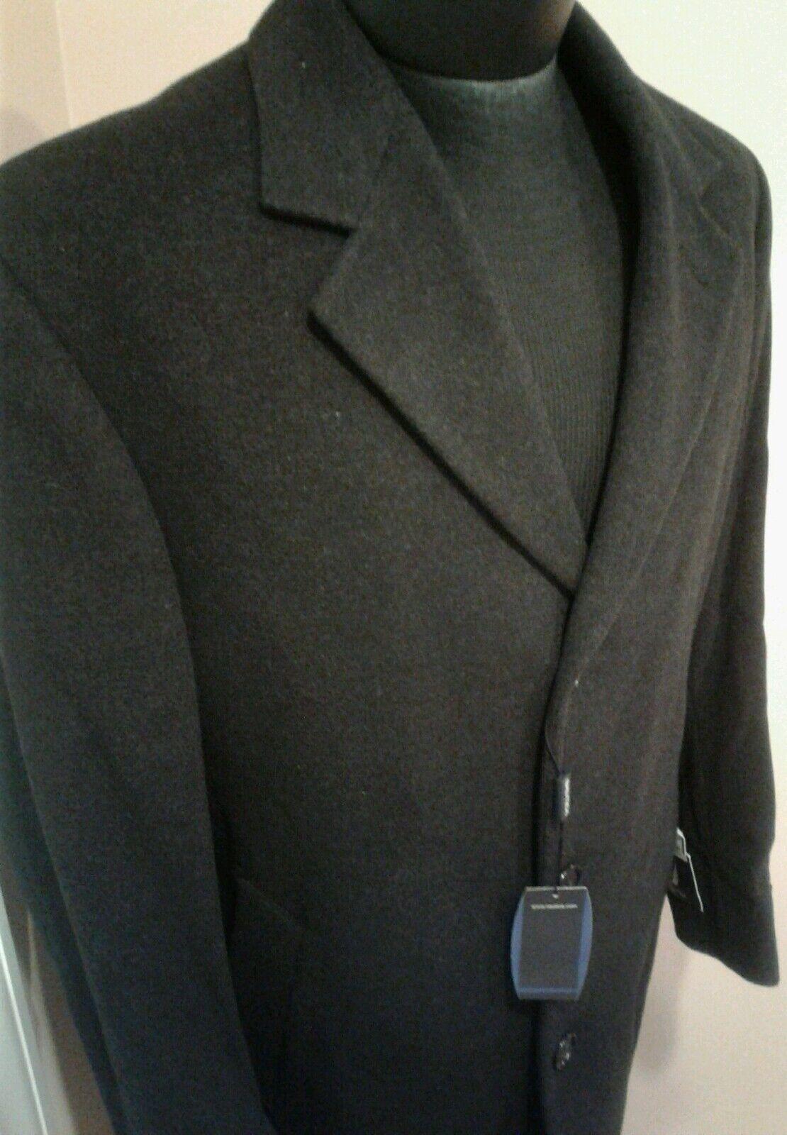 BNWT Nautica Charcoal Grey Topcoat 38S new cashmere blend