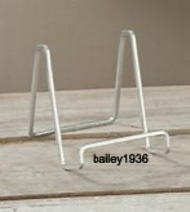 Image is loading 3-034-PLATE-STAND-Small-SILVER-Square-Wire- & 3