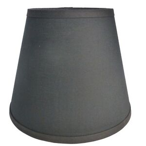 Black-Fabric-Custom-Made-Handcrafted-Lamp-Shade-6-x-10-x-8-Use-in-Any-Room
