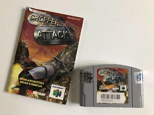 Nintendo 64 n64 juego Chopper Attack + instrucciones de juego probado Game Nintendo 64