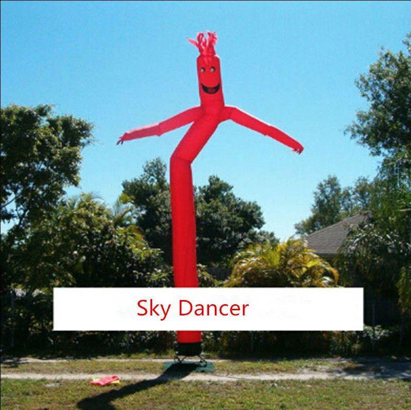 Hauteur 4 m gonflable publicitaire Air danseuse Sky Dancer avec ventilateur