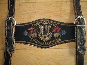 Lederhosen & Hosen OidÉ Wahnsinns BÄrige Musikkapelle KirchanschÖring Lederhosen-trÄger,top Zustand