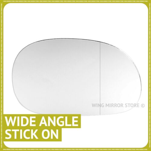 Right hand driver side for Renault Laguna 1993-2000 Wide Angle wing mirror glass