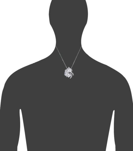 Sterling Silver Horse charme collier pendentif diamant coupe finition avec chaîne