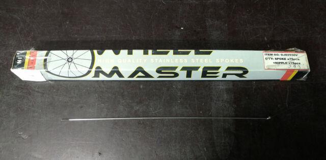 Wheel Master Black Stainless Steel Spokes Spokes Wm Pro Ss 279 14g Bk Bxof75