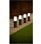 4pk-Solar-Powered-Rattan-Effect-Post-Solar-Lights-Garden-Outdoor-Decor thumbnail 2