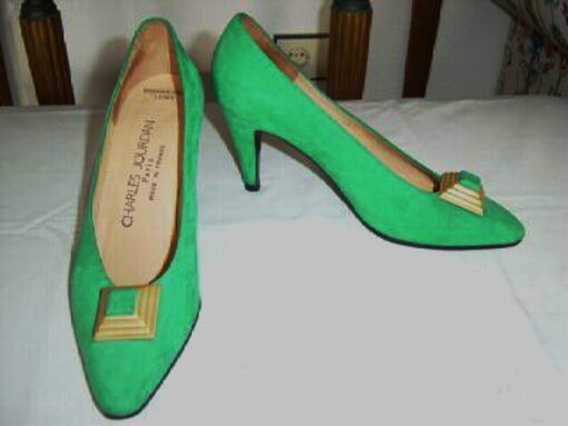 Wildleder Pumps smaragd grün CHARLES JOURDAN Gr.6 1/2 1/2 1/2 943755