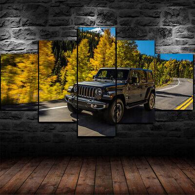 YCWYF Impression sur Toile Type Modulaire Grand Affiche 5 Pi/èces Moto Dune Rally Cross Country Peinture Moderne Mur D/écor Artwork