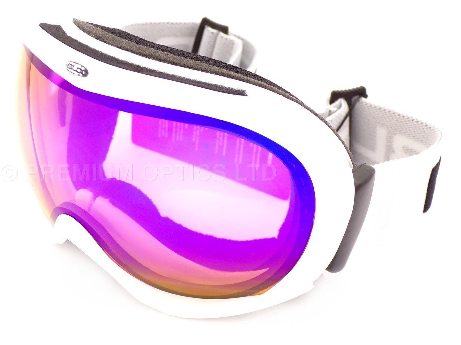 BLOC-Iona Piccolo Medio Sci Neve Occhiali Matt Bianco/Blu Specchio Specchio Specchio CAT.2 IN04 ef464d
