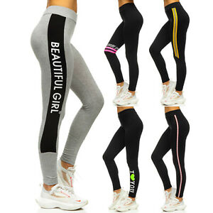 Leggings Trainingshose Fitness Sporthose Hose Jogger Print Damen Mix BOLF Motiv