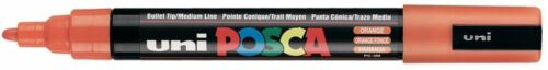 Uni Posca PC-5M Orange Paint Marker Pens Metal Glass 2.5mm Medium Bullet Nib