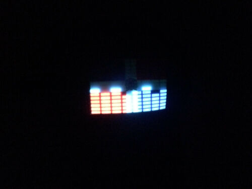 SOUND Activated LED LIGHT UP FLASHING DR Dominican Republic FLAG DJ PARTY HAT