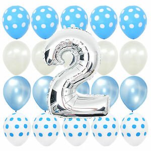 Image Is Loading Second Birthday Blue Polka Dot Baby 2nd B