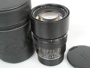 LEICA-SUMMICRON-M-2-90-schon-mit-LEICA-graviert-sehr-guter-Zustand-Glas-Top