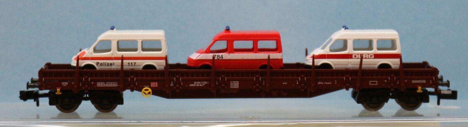 Fleischmann 828901 .1, Traccia N, DB AG Rungenwagen carico con 3 FORD TRANSIT