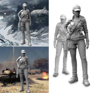 1-35-50mm-Modern-Female-Mercenary-Resin-Soldier-Model-HOT-NEU