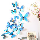 12pcs Wall Stickers Art Design Decal Home DIY 3D Butterfly Decor Room Decoration