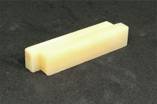 """2.22/"""" x .47/"""" x .25/"""" Bone Nut Blanks  Unbleached Vintage Bone 10 pack"""