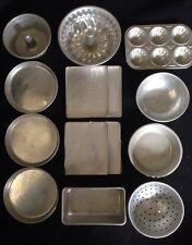 Vintage Toy Aluminum Cooking Set~14 Pieces~Cookie Sheet~Cake Pan~Collindar~Bowl~