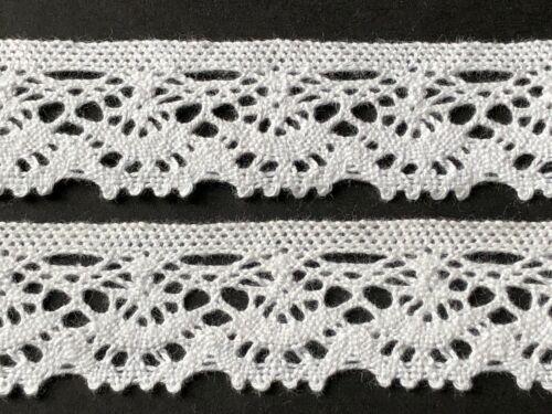 laverslace Dainty White Vintage Chic Cotton Cluny Crochet Lace Trim 22mm