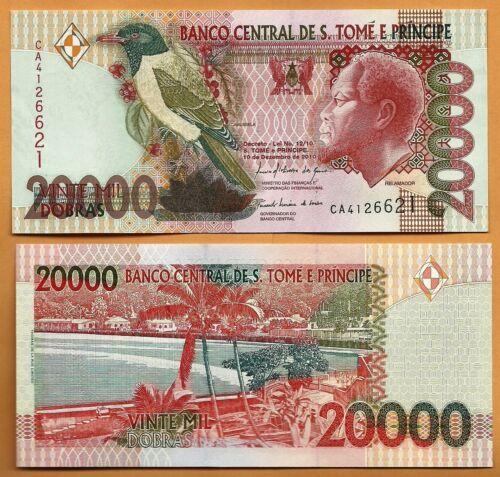 Sao Tome and Principe 2010  UNC 20,000 Dobras Banknote Paper Money Bill P-67d