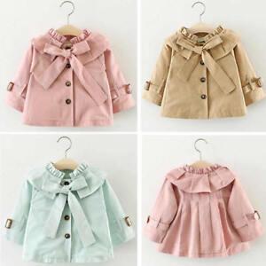f4e8fdf07 Image is loading Newborn-Baby-Girls-Kids-Windbreaker-Outwear-Coat-Winter-