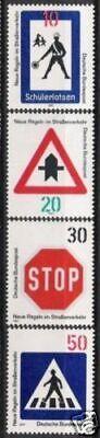 Herzhaft Bund Nr.665/68 ** Straßenverkehr 1971, Postfrisch