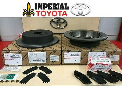 TCMC PADS /& OEM SHIMS 2011-2018 TOYOTA SIENNA NEW REAR GENUINE OEM BRAKE ROTORS