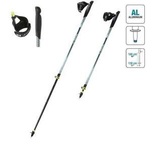Volontaire Newfeel Nw P120 Télescopique Nordic Walking Bâtons-noir/lovat Vert-afficher Le Titre D'origine