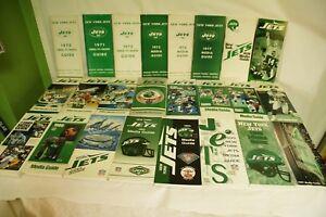 RARE-LOT-BY-NFL-NEW-YORK-JETS-24-MEDIA-GUIDE-PROGRAM-PRESS-BOOK-FOOTBALL