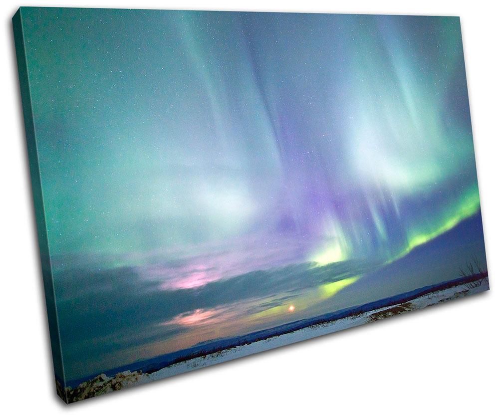 Northern Lights Alaska  Foto Space SINGLE LONA pared arte Foto  impresion 9f79d1