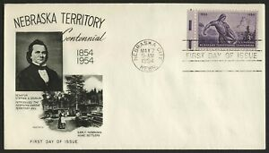 #1060 3c Nebraska Territory, Fleetwood-Addressed FDC Cualquier 5=