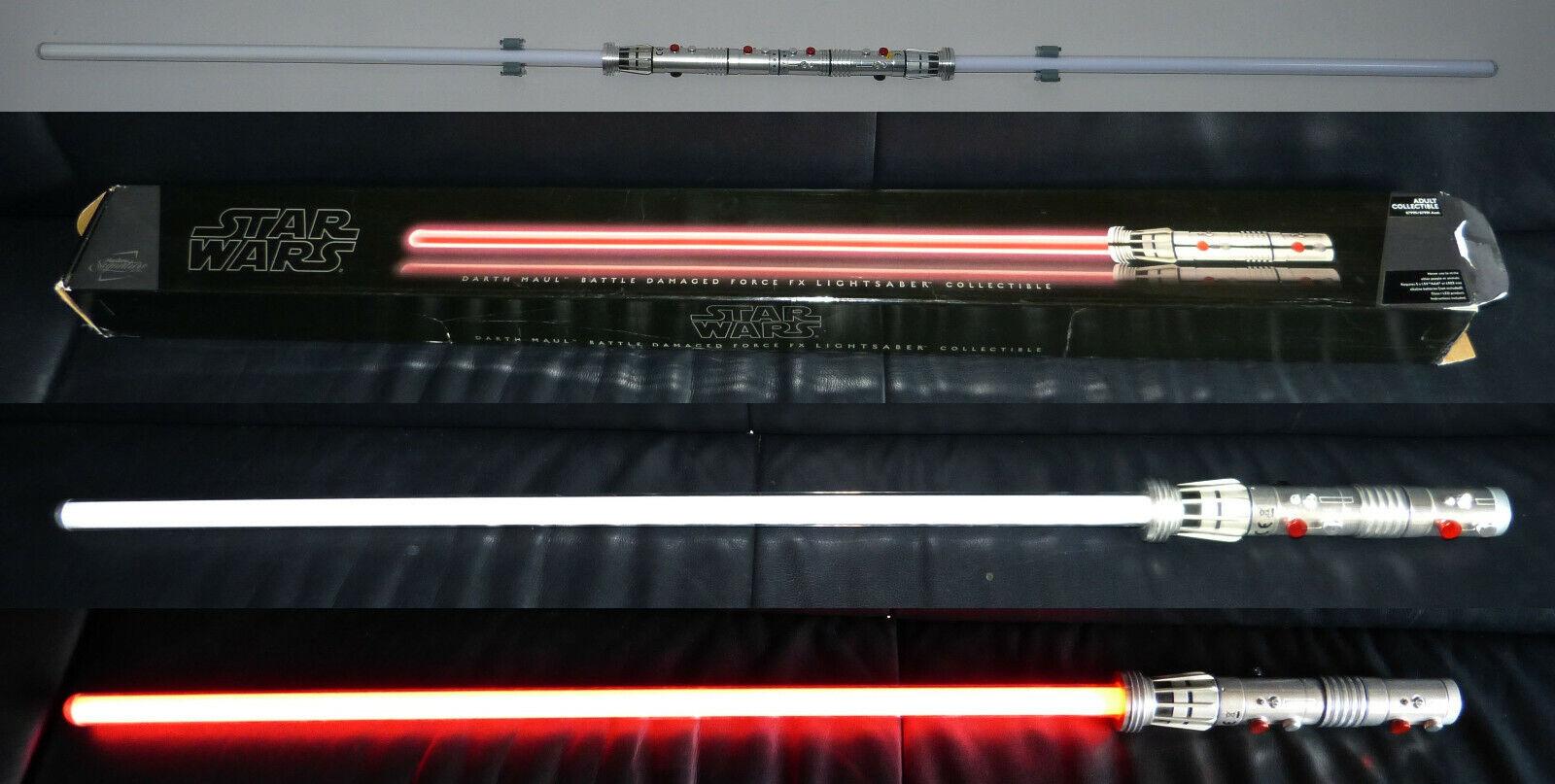 Star Wars Signature Series Darth Maul Force FX Lichtschwert lightsaber rot rar