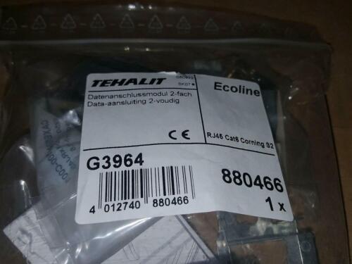 Tehalit G3964 Datenanschlussmodul 2 fach Ecoline RJ45 Cat6 Corning S2 NEU