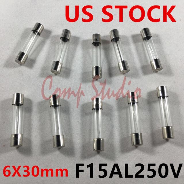 CERAMIC fuses 5x20mm SLOW-blow NEW 10pcs T5AH250V T5A250V AXIAL 5 Amp 250V