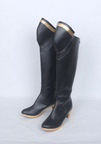 New OverWatch OW Mercy Angela Ziegler Black Cosplay Boots Shoes Cos Boots