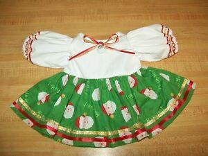 "CHRISTMAS SANTA DRESS 1 W//RIBBONS+SANTA BUTTON for 16-18/"" CPK Cabbage Patch Kids"