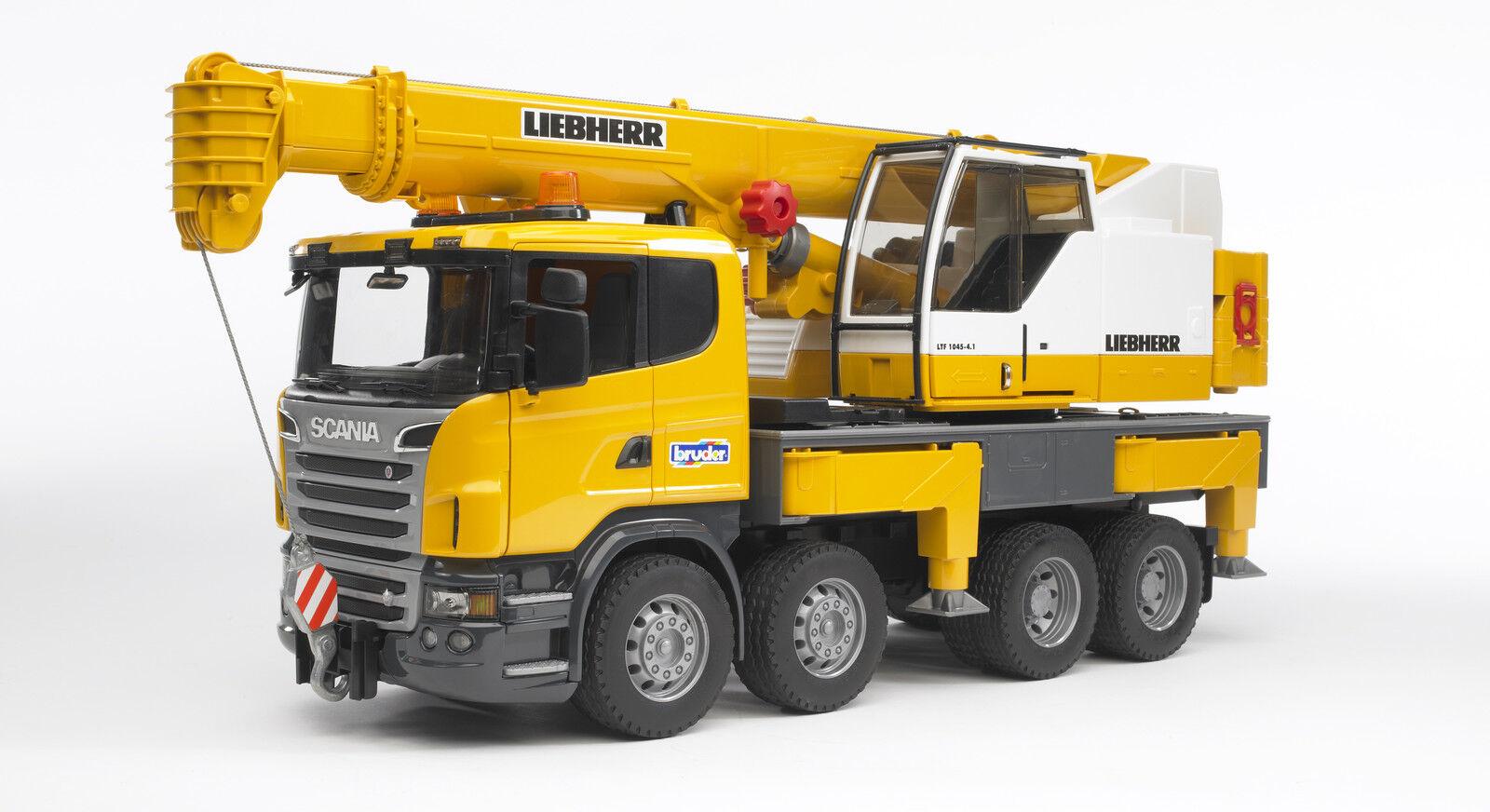 Bruder 03570 Scania Autokran +  Kran Baustelle Teleskopkran  Bworld