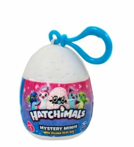 """Hatchimals Mystery Mini Plush Clip-On 2.5 /"""" Egg series1 Blind Pack"""