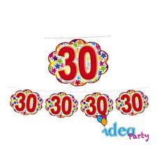 FESTONE Nuvolette 30 ANNI - addobbi festa a tema 30° Compleanno - 4 m