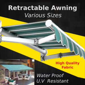 Awning Strong Retractable Folding Arm Awning 4m 3m 2 5m Sun Shade