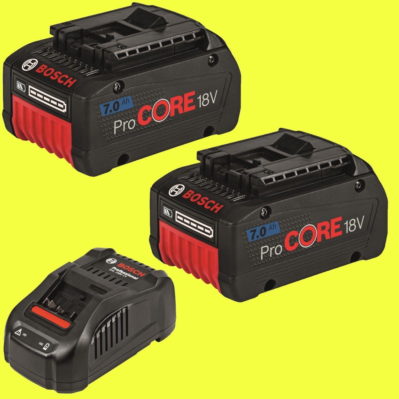 Bosch Starter-Set - 2x Akku ProCore 7,0 Ah GBA 18 Volt + Ladegerät GAL1880CV
