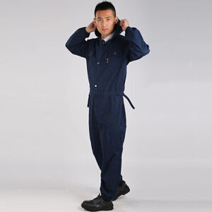 Denim Jeans Overalls Coveralls Workwear Jumpsuit Decorator Mechanic Uniform