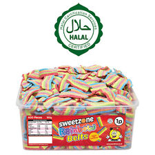 SWEETZONE RAINBOW BELTS TUB SWEETS CANDY KIDS PARTY FAVOURS 100% HALAL HMC